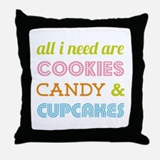 Cookies Candy Throw Pillow