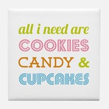 Cookies Candy Tile Coaster
