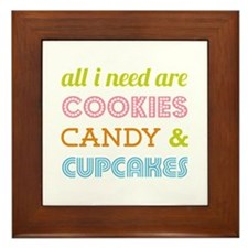 Cookies Candy Framed Tile