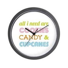 Cookies Candy Wall Clock