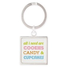 Cookies Candy Square Keychain
