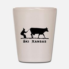 Ski Kansas Shot Glass