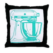 Retro Aqua Mixer Throw Pillow