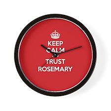 Trust Rosemary Wall Clock