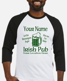 Custom Irish pub Baseball Jersey