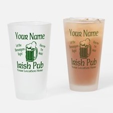 Custom Irish pub Drinking Glass