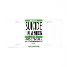 Prevent Suicide! Aluminum License Plate