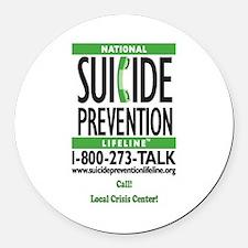 Prevent Suicide! Round Car Magnet