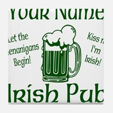 Custom Irish pub Tile Coaster
