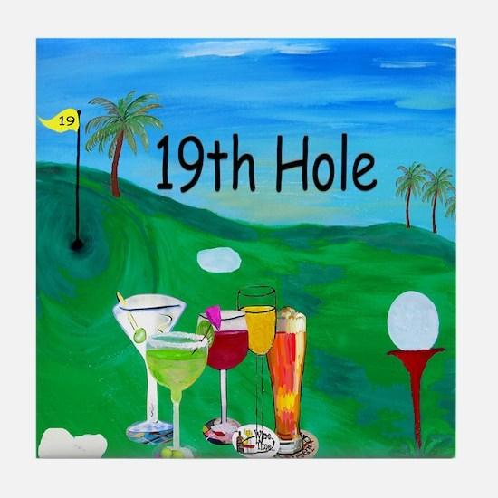 Golf 19th Hole Tile Coaster