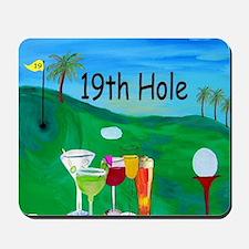 Golf 19th hole art Mousepad