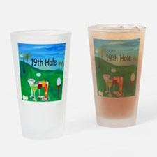 Golf 19th hole art Drinking Glass