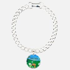 Golf 19th hole art Bracelet