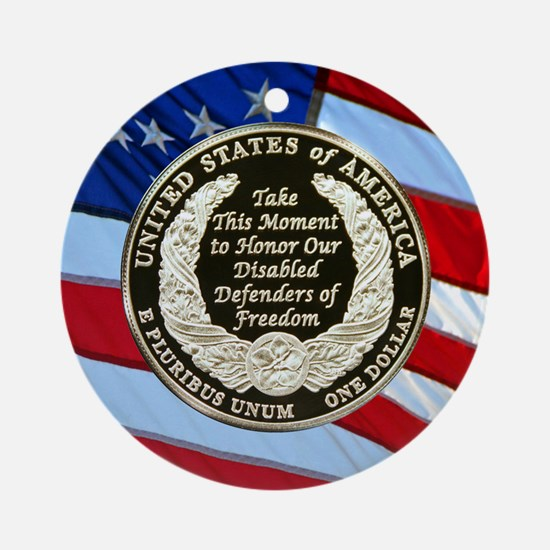 2010 Disabled Vets Dollar Ornament (Round)