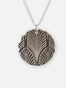 Art Deco Fan Geometric Necklace