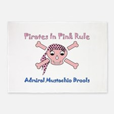 PIRATES RULE-ADMIRAL DROOLS 5'x7'Area Rug