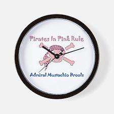 Pirates Rule-Admiral Drools Wall Clock