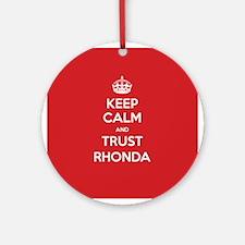 Trust Rhonda Ornament (Round)