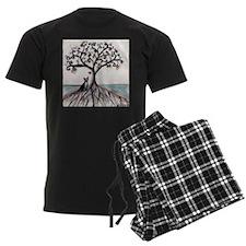 Boston Terrier Love Heart Tree Pajamas