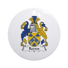 Reeves Ornament (Round)