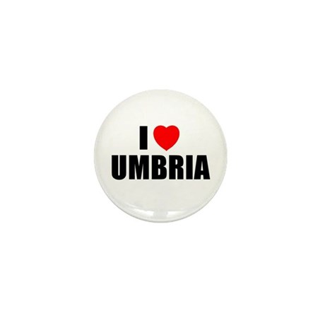 I Love Umbria, Italy Mini Button