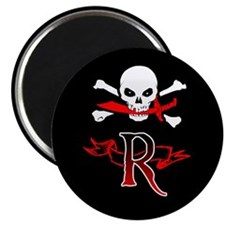 Jolly Roger monogram R Magnets