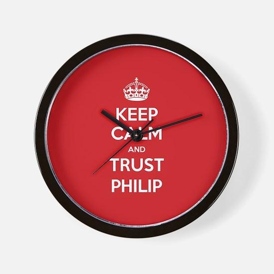 Trust Philip Wall Clock