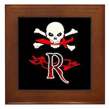 Jolly Roger monogram R Framed Tile