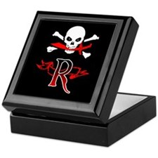 Jolly Roger monogram R Keepsake Box