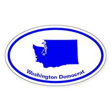 Washington BLUE STATE Oval Decal