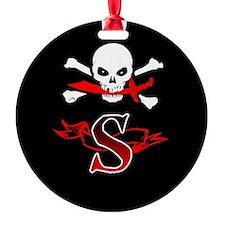 Jolly Roger S Monogram Ornament