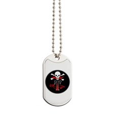 Jolly Roger T Monogram Initial Dog Tags
