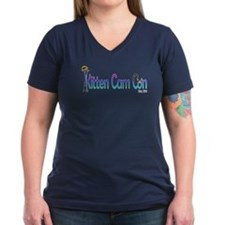 Kitten Cam Con Women's V-Neck T-Shirt