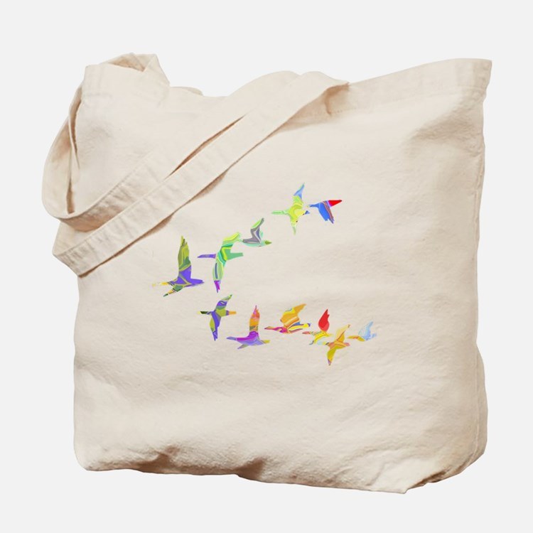 Colorful geese Tote Bag