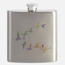 Colorful geese Flask