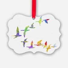 Colorful geese Ornament