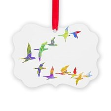 Colorful geese Picture Ornament