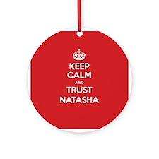Trust Natasha Ornament (Round)