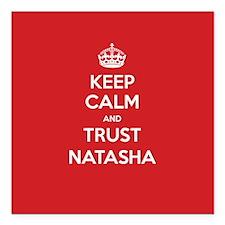 """Trust Natasha Square Car Magnet 3"""" x 3"""""""
