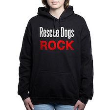 2-Rescuedogsrockblack.png Hooded Sweatshirt