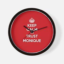 Trust Monique Wall Clock