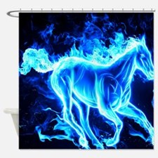 Flamed Horse Shower Curtain