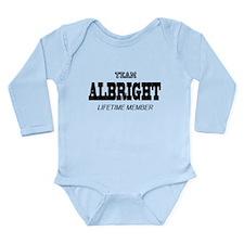 Team Albright Long Sleeve Infant Bodysuit