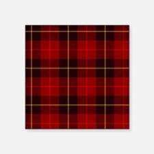"Tartan Plaid Square Sticker 3"" x 3"""