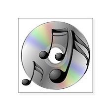 "Music DVD Square Sticker 3"" x 3"""