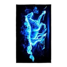 Flamed Horse 3'x5' Area Rug