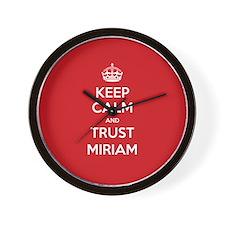 Trust Miriam Wall Clock