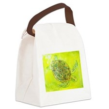 Celtic Knotwork Turtle Canvas Lunch Bag