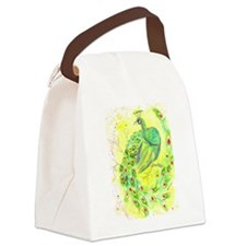 Dream Peacock Canvas Lunch Bag