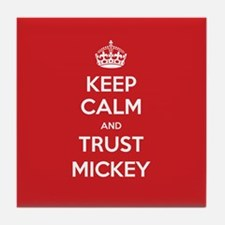 Trust Mickey Tile Coaster
